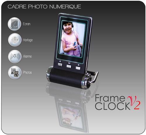 cadre photo numerique horloge