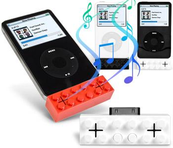iblock haut-parleurs lego ipod