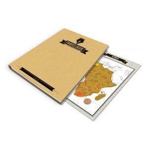 Journal de voyage avec pages à gratter