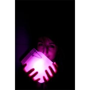 bocal lumineux rose