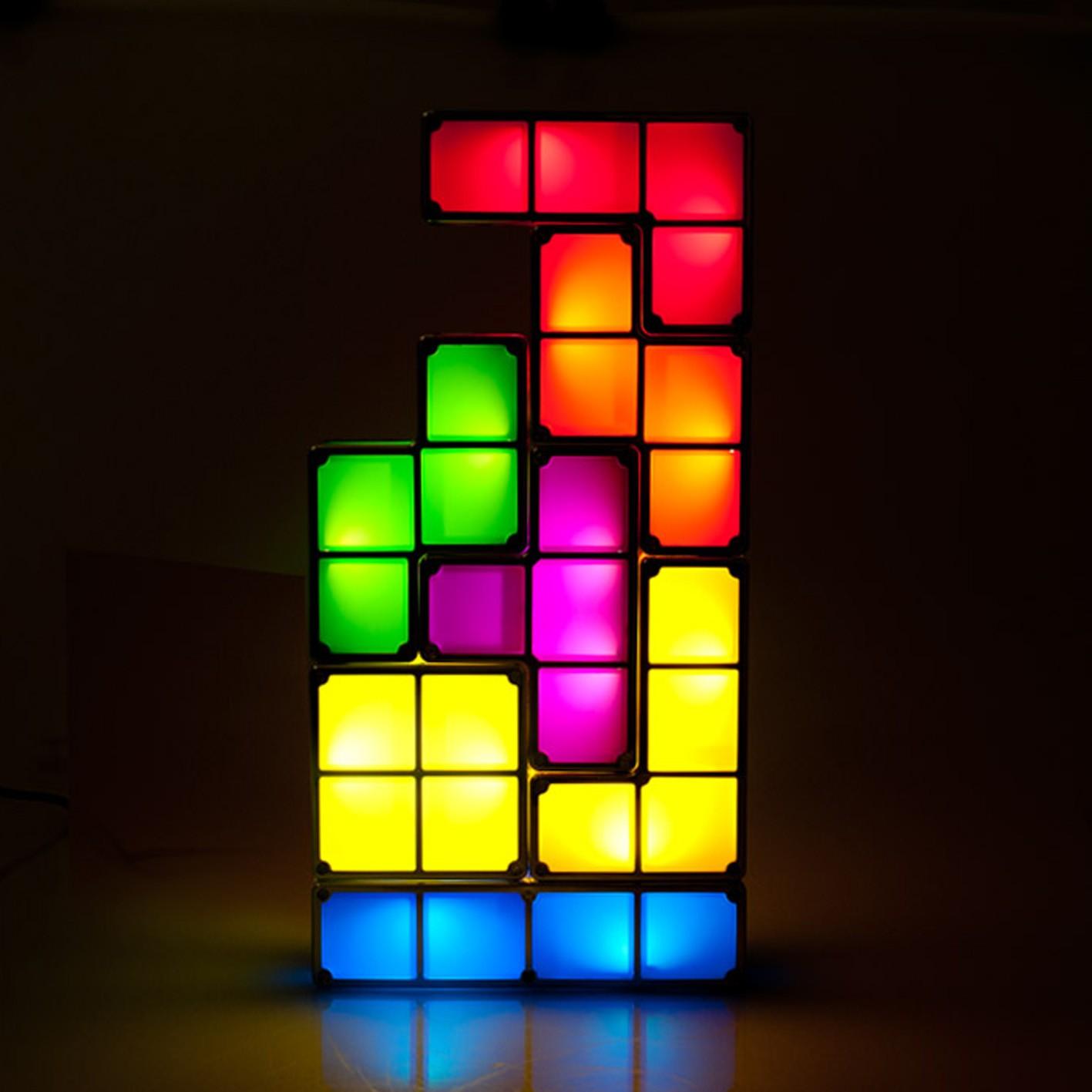 lampe tetris design cadeau geek insolite super insolite. Black Bedroom Furniture Sets. Home Design Ideas