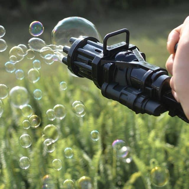mitrailleuse à bulles