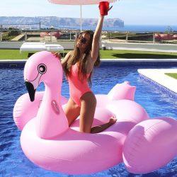 bouée géante flamant rose