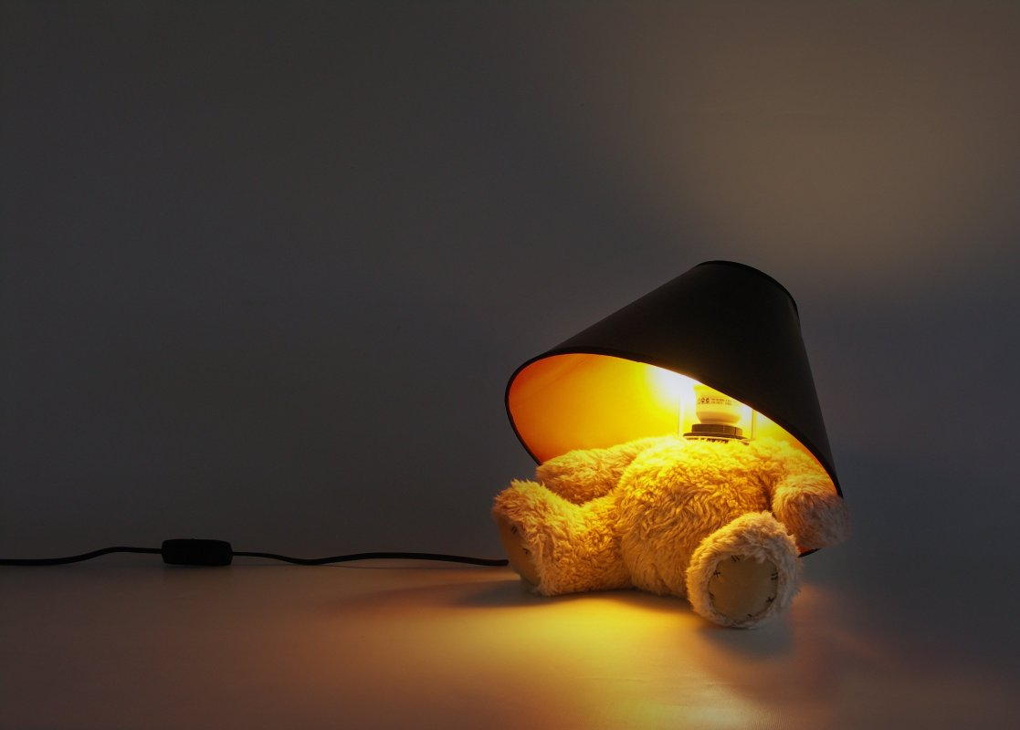 lampe teddy bear ours en peluche design super insolite. Black Bedroom Furniture Sets. Home Design Ideas