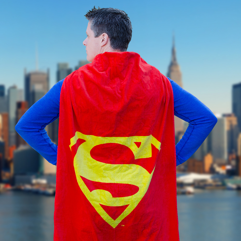 Serviette de plage Superman