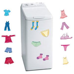 Sticker lave linge sous v tements d co fun pour la machine super insolite - Stickers machine a laver ...