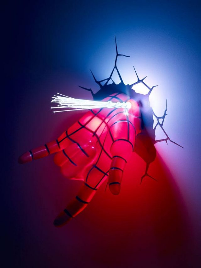 lampe murale Spiderman