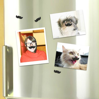 magnets moustaches d corez vos photos sur le frigo avec ces moustaches aimant es super insolite. Black Bedroom Furniture Sets. Home Design Ideas