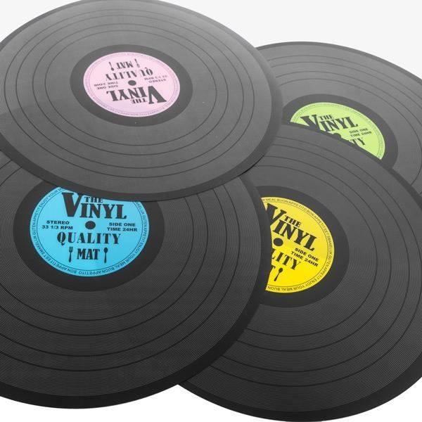 set de table disque vinyle