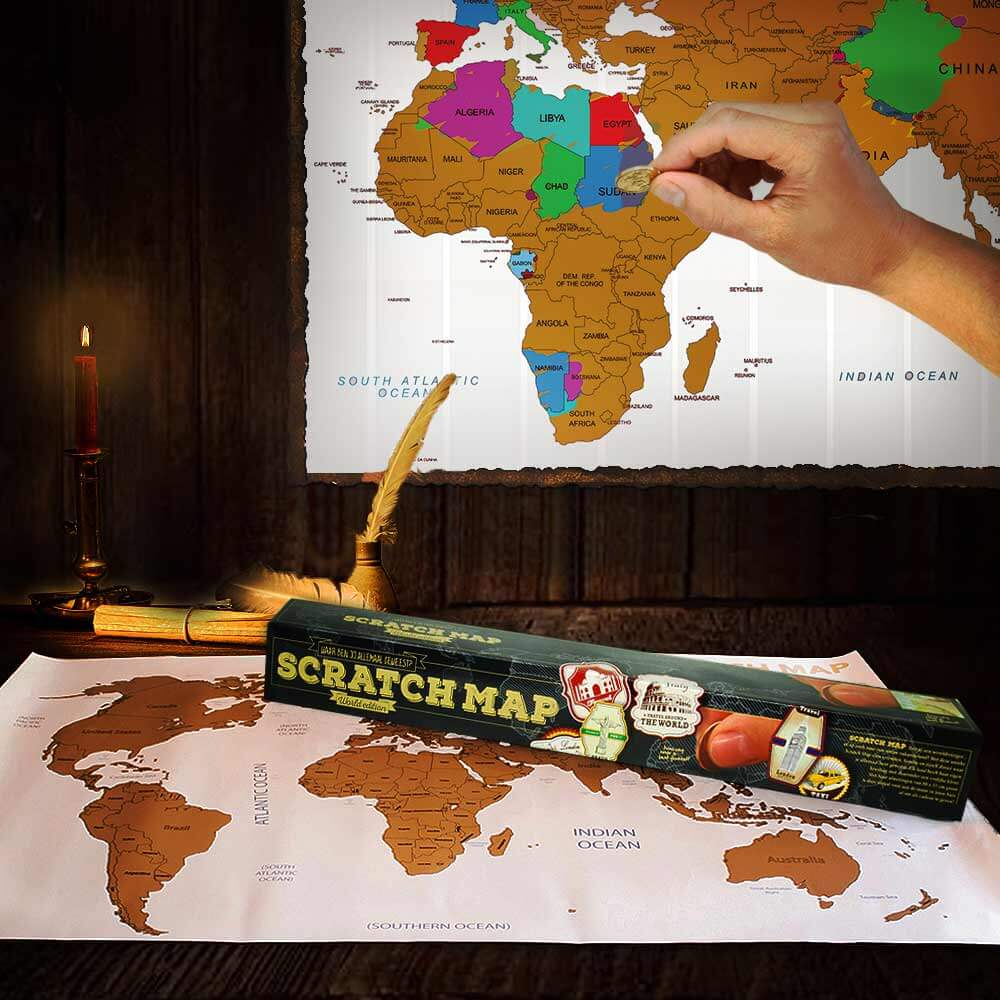 Carte du monde mappemonde gratter pas cher super insolite - Deco slaapkamer jongen jaar ...