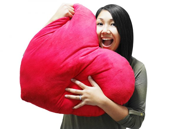coussin coeur geant