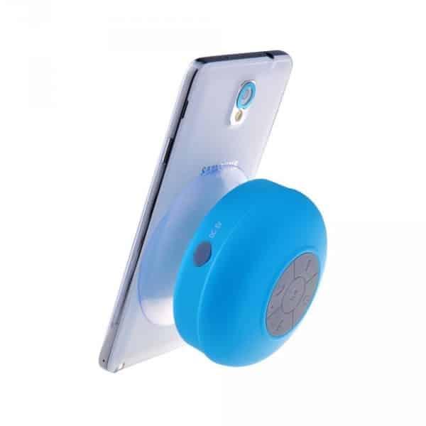 Haut parleur douche sans fil etanche 19 90 super insolite - Enceinte bluetooth douche ...