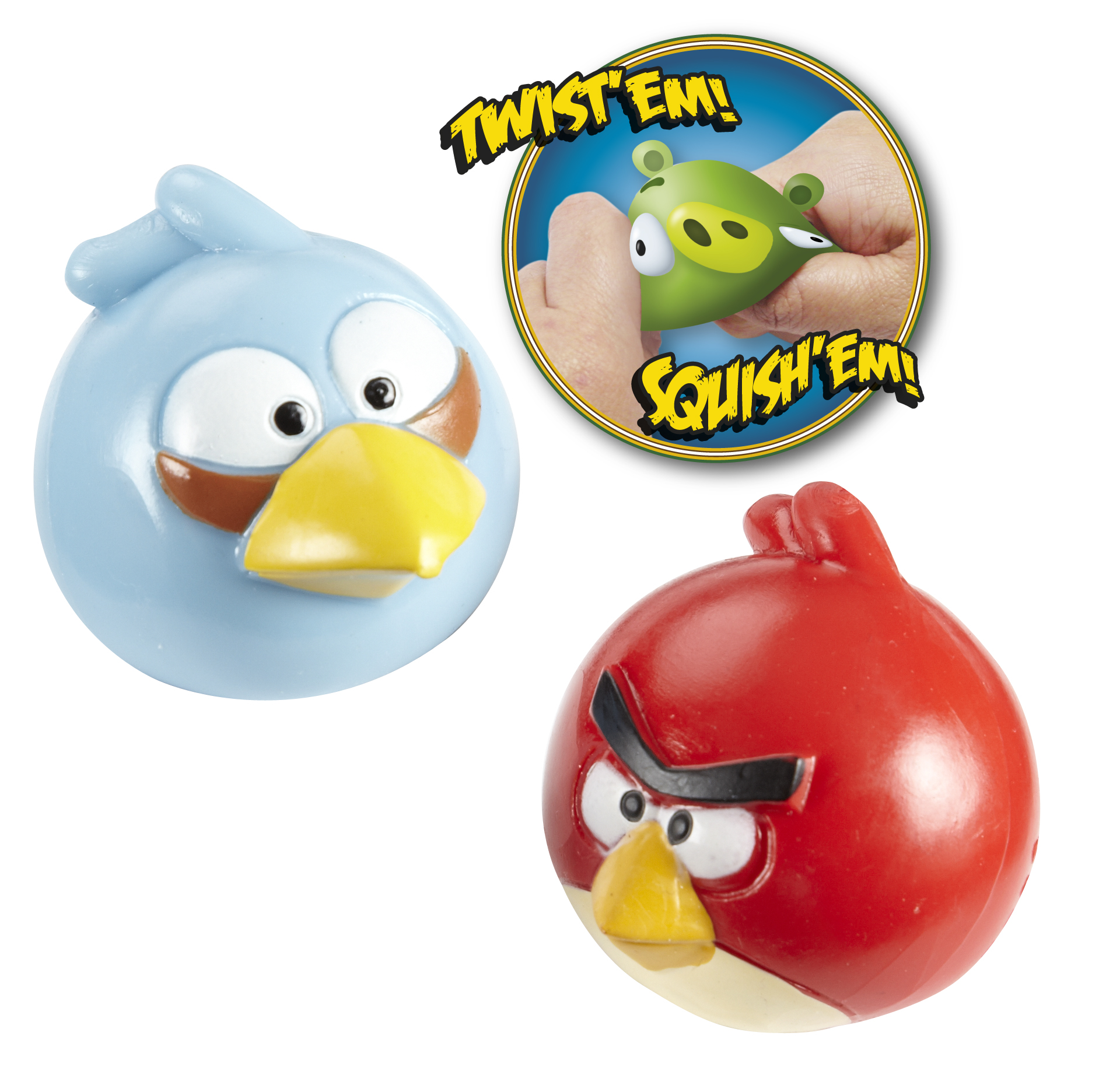 boules anti stress angry birds paire de balles antistress angry birds rouge et bleu super. Black Bedroom Furniture Sets. Home Design Ideas