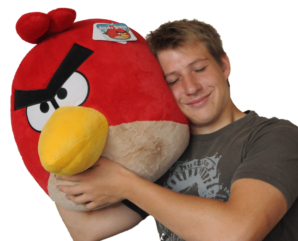 Angry bird g ant la peluche angry birds jumbo fa on xxl cadeau geek super insolite - Angry birds rouge ...
