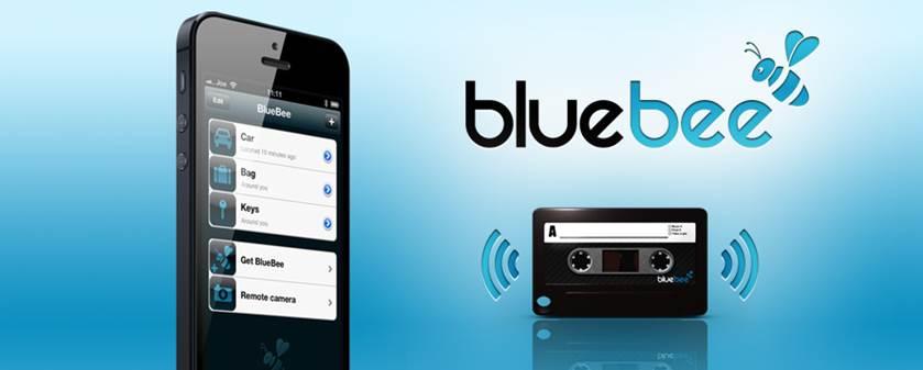 bluebee mini balise de localisation via iphone et smartphone pour vos cl s voiture et m me. Black Bedroom Furniture Sets. Home Design Ideas