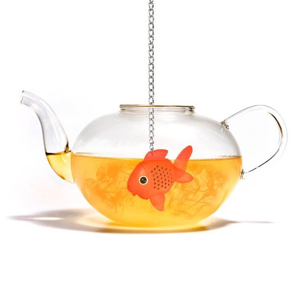 Infuseur th poisson rouge cadeau original pour le tea for Aquarium poisson rouge boule