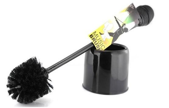 brosse toilette micro la star des wc c 39 est vous et votre microphone super insolite. Black Bedroom Furniture Sets. Home Design Ideas