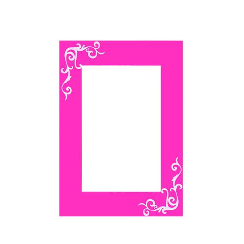 Cadre photo adh sif fantaisie blanche couleur et design for Miroir fantaisie design
