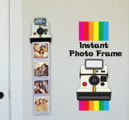 cadre photo pochette polaroid instagram vos photos fa on pola super insolite. Black Bedroom Furniture Sets. Home Design Ideas