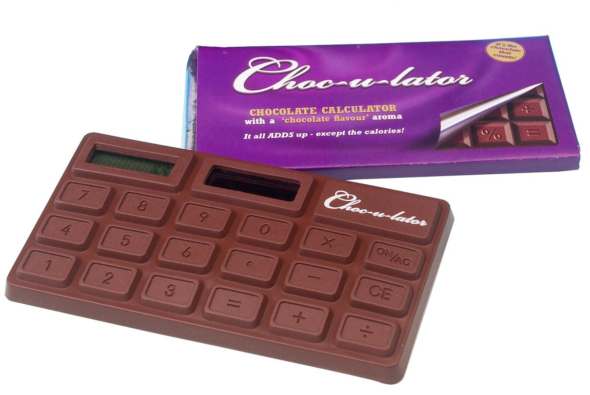 calculette calculatrice chocolat le chocolator s 39 invite dans vos comptes chocolat super. Black Bedroom Furniture Sets. Home Design Ideas