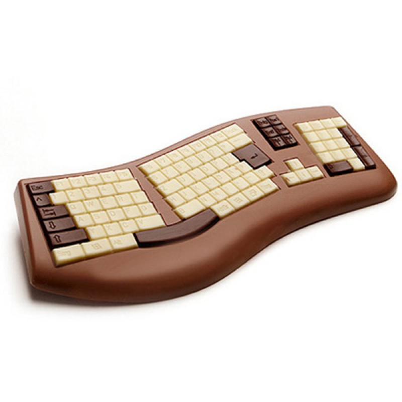 clavier d 39 ordinateur en chocolat geek super insolite. Black Bedroom Furniture Sets. Home Design Ideas