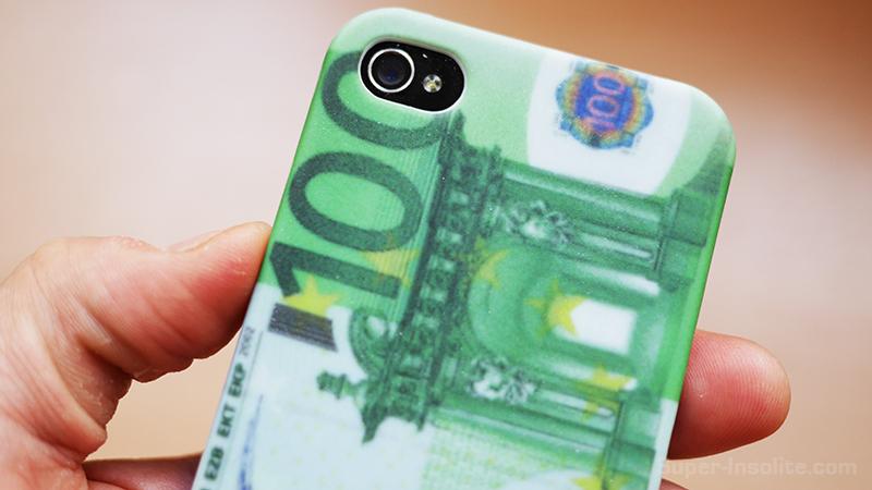 coque iphone 4 4s billet 100 euros argent super insolite. Black Bedroom Furniture Sets. Home Design Ideas