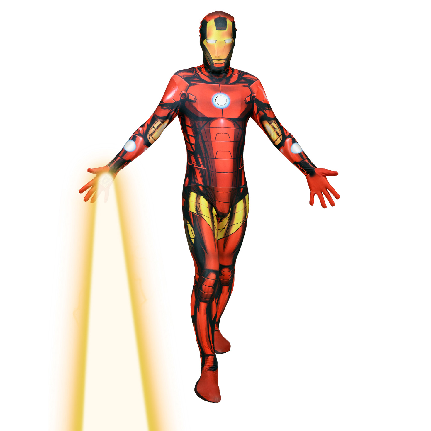 d guisement combinaison int grale iron man costume morphsuit seconde peau ironman interactif. Black Bedroom Furniture Sets. Home Design Ideas