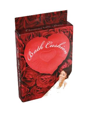 coeur gonflable coussin de bain cadeau saint valentin pour le bain super insolite. Black Bedroom Furniture Sets. Home Design Ideas