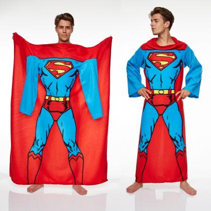 Couverture manches polaire superman super insolite - Couverture polaire avec manches ...