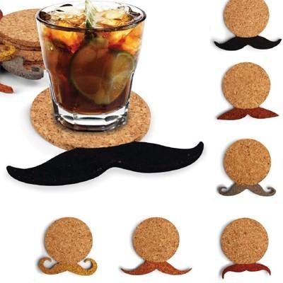 Dessous de verre en li ge moustaches les sous verres - Dessous de verre originaux ...