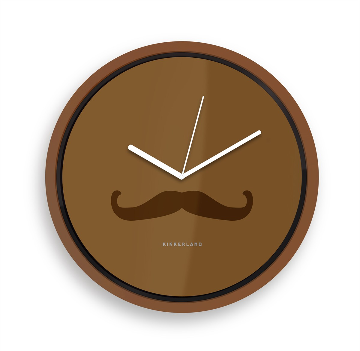 horloge murale moustache la moustache d co hipster qui donne l 39 heure super insolite. Black Bedroom Furniture Sets. Home Design Ideas