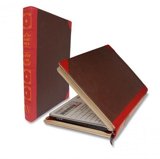 housse livre pour ordinateur pc ou mac une sacoche en forme de livre ancien pour votre ordi. Black Bedroom Furniture Sets. Home Design Ideas