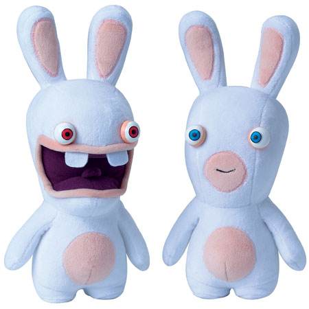 peluche lapin cr tin les lapins cr tins d barquent en mode peluche de 28 cm super insolite. Black Bedroom Furniture Sets. Home Design Ideas