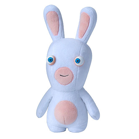 peluche lapin cr tin les lapins cr tins d barquent en mode peluche de 28 cm super insolite. Black Bedroom Furniture Sets. Home Design Ideas
