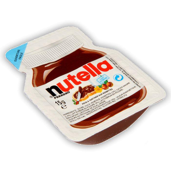 mini barquette de nutella 15g une mini dose de la p 226 te 224 tartiner nutella lot de 3