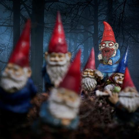 Nain de Jardin Zombie Debout - achat cadeau  Super Insolite