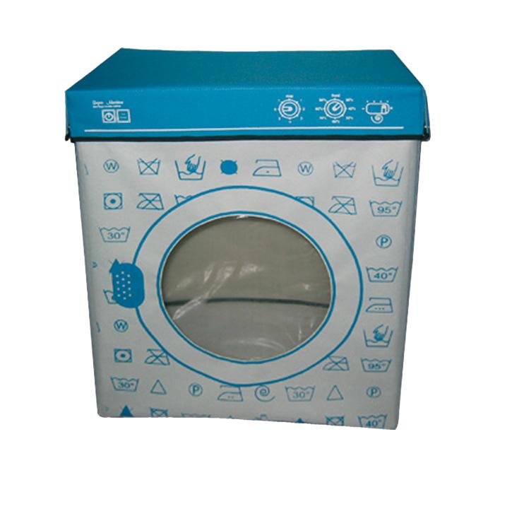Panier linge machine laver cadeau maison fun super - Panier a linge 2 compartiment ...