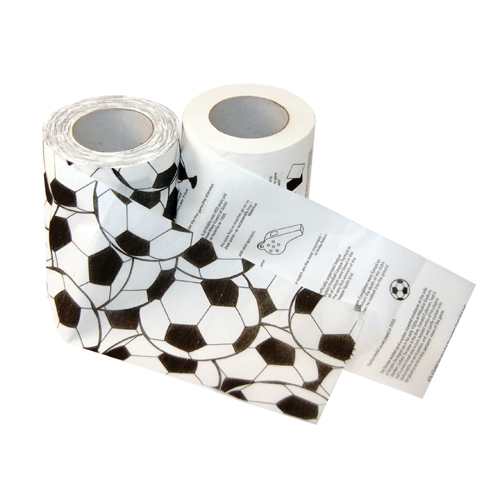 papier toilette football le papier wc du ballond rond. Black Bedroom Furniture Sets. Home Design Ideas