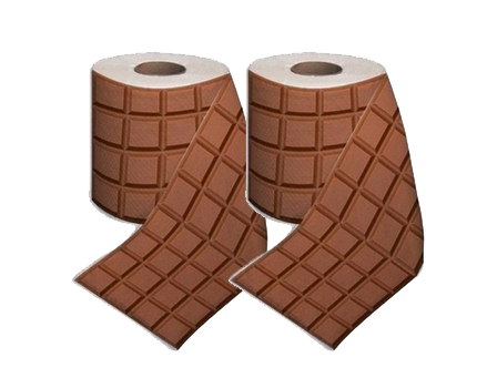 papier toilette chocolat 2 rouleaux de pq en tablette de chocolat pour wc de gourmands super. Black Bedroom Furniture Sets. Home Design Ideas
