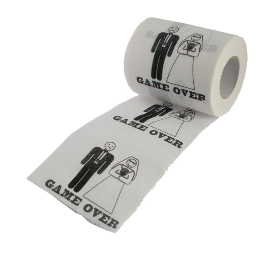 Papier toilette mariage game over super insolite - Papier toilette mariage ...