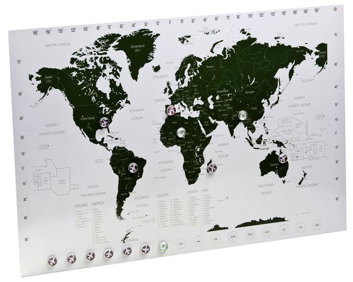 Carte du monde magnetique : pour planifier vos voyages dans le