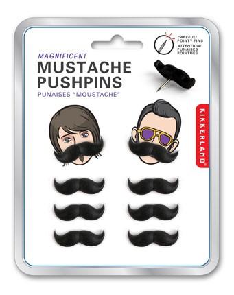 Punaises moustache 8 punaises moustaches pour un bureau - Punaise pour accrocher ...