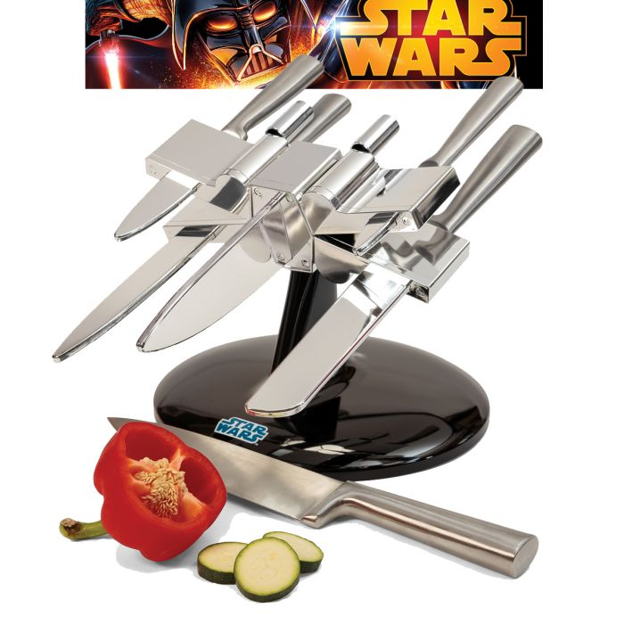 porte couteaux x wing star wars la cuisine des jedi super insolite. Black Bedroom Furniture Sets. Home Design Ideas