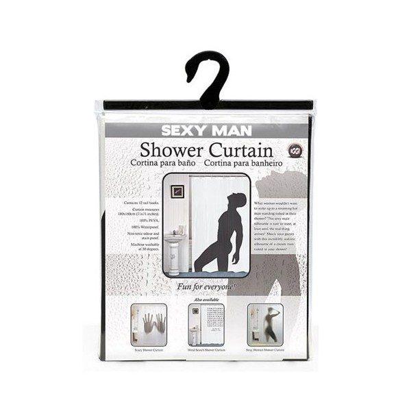 rideau de douche homme sexy la silhouette du mec parfait sous votre douche avec ce rideau de. Black Bedroom Furniture Sets. Home Design Ideas