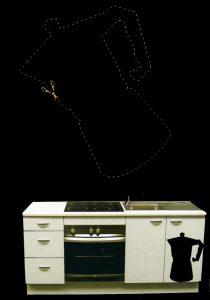 rouleau ardoise deco cuisine super insolite. Black Bedroom Furniture Sets. Home Design Ideas