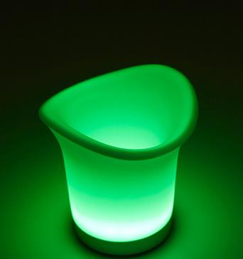 Seau glace lumineux vert super insolite - Seau a glace lumineux ...