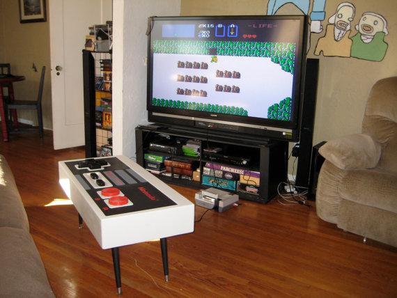 Table Manette Nintendo Nes Vintage La Table Basse Des