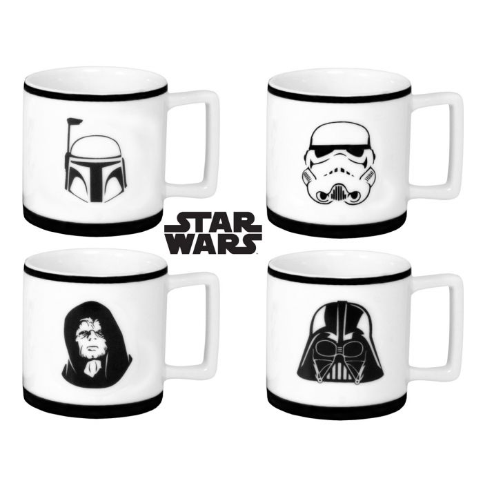tasses caf expresso star wars x4 super insolite. Black Bedroom Furniture Sets. Home Design Ideas