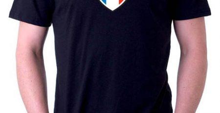 t-shirt lumineux équipe de France