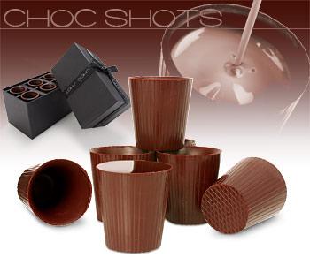 shot chocolat les verres en chocolat cadeau r veillon noel super insolite. Black Bedroom Furniture Sets. Home Design Ideas